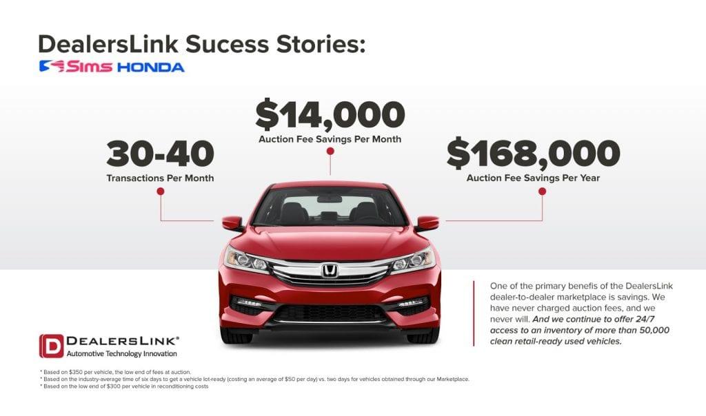 Sims Honda Auction Fee Savings