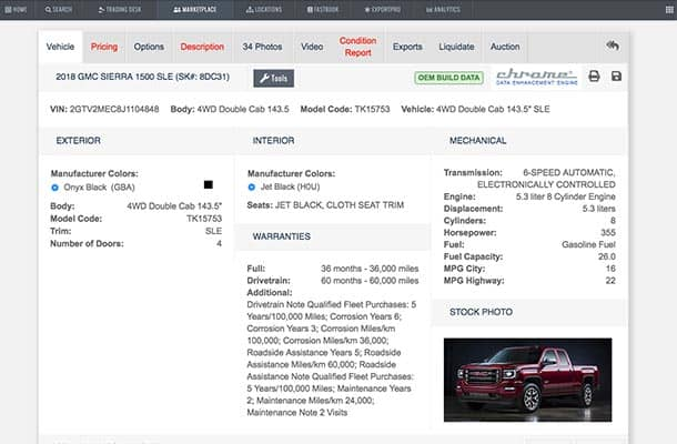 New car inventory management and pricing software
