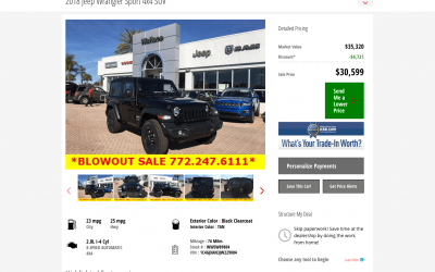 Dealership Vehicle Details Page (VDP)